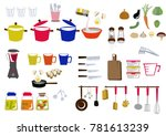 kitchen icon material... | Shutterstock .eps vector #781613239