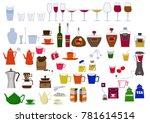 drink clip art. alcohol clip... | Shutterstock .eps vector #781614514