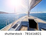 sailing boat in navigation | Shutterstock . vector #781616821