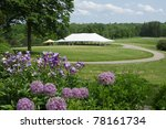 large event tent in a beautiful ... | Shutterstock . vector #78161734