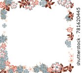 cute floral frame. colorful... | Shutterstock .eps vector #781620445
