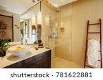 toilet cabin in bathroom... | Shutterstock . vector #781622881