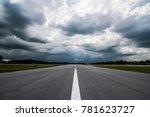 runway street nobody with...   Shutterstock . vector #781623727