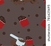 shake protein powder patten | Shutterstock .eps vector #781625695