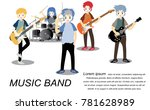 musicians and musical... | Shutterstock .eps vector #781628989