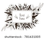 vector floral frame with... | Shutterstock .eps vector #781631005