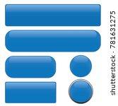 set blue glossy web buttons ...   Shutterstock .eps vector #781631275