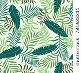 tropical background with palm... | Shutterstock .eps vector #781633315