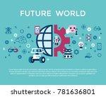 digital vector artificial... | Shutterstock .eps vector #781636801