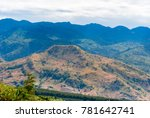 panoramic view from road  rural ... | Shutterstock . vector #781642741