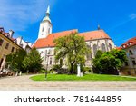 the st. martin cathedral is a... | Shutterstock . vector #781644859