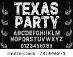 vintage font alphabet...   Shutterstock .eps vector #781646371