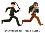 police officer chasing a thief... | Shutterstock .eps vector #781646857