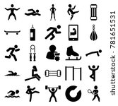 athlete icons. set of 25... | Shutterstock .eps vector #781651531