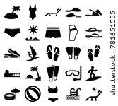 beach icons. set of 25 editable ... | Shutterstock .eps vector #781651555