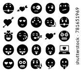 feeling icons. set of 25... | Shutterstock .eps vector #781651969