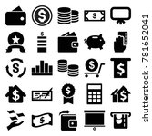 financial icons. set of 25... | Shutterstock .eps vector #781652041