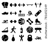 athletic icons. set of 25... | Shutterstock .eps vector #781652149