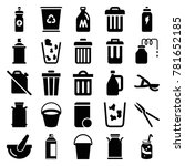 can icons. set of 25 editable... | Shutterstock .eps vector #781652185