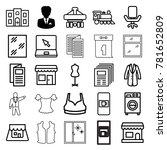 front icons. set of 25 editable ... | Shutterstock .eps vector #781652809