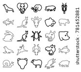 wildlife icons. set of 25... | Shutterstock .eps vector #781652881