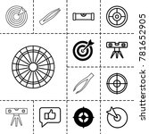 accuracy icons set of 13