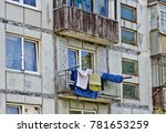 clothes dry on the balcony of... | Shutterstock . vector #781653259