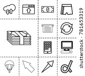 app icons. set of 13 editable... | Shutterstock .eps vector #781653319