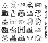 building icons. set of 25... | Shutterstock .eps vector #781653409