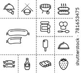 gourmet icons. set of 13... | Shutterstock .eps vector #781653475