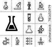 scientific icons. set of 13... | Shutterstock .eps vector #781653979