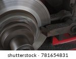 disc brake cars technicians are ... | Shutterstock . vector #781654831