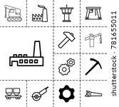 industry icons. set of 13... | Shutterstock .eps vector #781655011