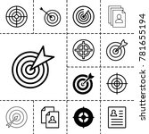 opportunity icons. set of 13... | Shutterstock .eps vector #781655194
