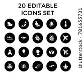 fly icons. set of 20 editable...   Shutterstock .eps vector #781655731