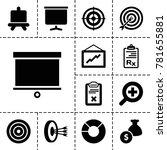 marketing icons. set of 13...   Shutterstock .eps vector #781655881