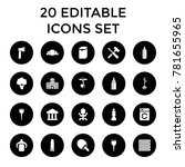 nobody icons. set of 20... | Shutterstock .eps vector #781655965
