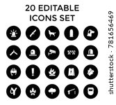 danger icons. set of 20... | Shutterstock .eps vector #781656469