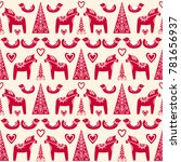 seamless vector pattern with... | Shutterstock .eps vector #781656937