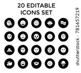 facial icons. set of 20... | Shutterstock .eps vector #781657219