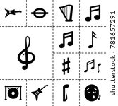 melody icons. set of 13... | Shutterstock .eps vector #781657291