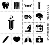 medical icons. set of 13... | Shutterstock .eps vector #781657771