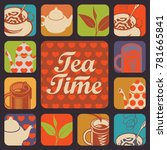 set of vector icons and logos... | Shutterstock .eps vector #781665841
