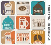 set of vector logo and icons... | Shutterstock .eps vector #781665889