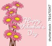 valentine's day vector... | Shutterstock .eps vector #781670347