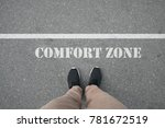 shoes standing on the asphalt... | Shutterstock . vector #781672519