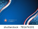 usa background for independence ... | Shutterstock .eps vector #781676101