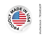 made in usa label tag | Shutterstock .eps vector #781681639