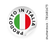 made in italy italian language... | Shutterstock .eps vector #781681675