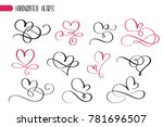 set of hand drawn sketchy... | Shutterstock .eps vector #781696507